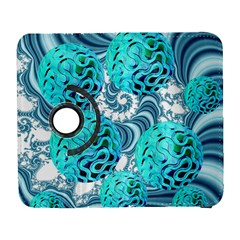 Teal Sea Forest, Abstract Underwater Ocean Samsung Galaxy S  III Flip 360 Case