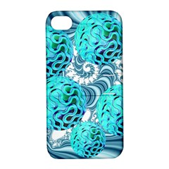 Teal Sea Forest, Abstract Underwater Ocean Apple Iphone 4/4s Hardshell Case With Stand