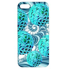 Teal Sea Forest, Abstract Underwater Ocean Apple iPhone 5 Hardshell Case with Stand