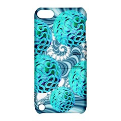 Teal Sea Forest, Abstract Underwater Ocean Apple iPod Touch 5 Hardshell Case with Stand