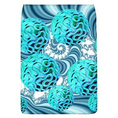 Teal Sea Forest, Abstract Underwater Ocean Removable Flap Cover (Large)