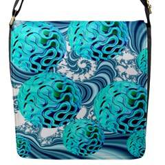 Teal Sea Forest, Abstract Underwater Ocean Flap Closure Messenger Bag (Small)