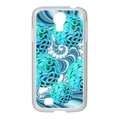 Teal Sea Forest, Abstract Underwater Ocean Samsung GALAXY S4 I9500/ I9505 Case (White)
