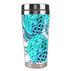 Teal Sea Forest, Abstract Underwater Ocean Stainless Steel Travel Tumbler