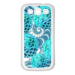 Teal Sea Forest, Abstract Underwater Ocean Samsung Galaxy S3 Back Case (White)