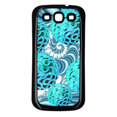 Teal Sea Forest, Abstract Underwater Ocean Samsung Galaxy S3 Back Case (black)
