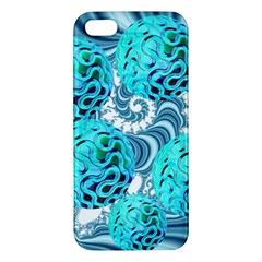 Teal Sea Forest, Abstract Underwater Ocean iPhone 5S Premium Hardshell Case
