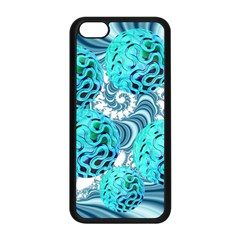 Teal Sea Forest, Abstract Underwater Ocean Apple iPhone 5C Seamless Case (Black)