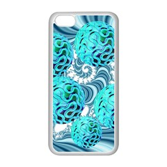 Teal Sea Forest, Abstract Underwater Ocean Apple iPhone 5C Seamless Case (White)