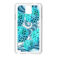 Teal Sea Forest, Abstract Underwater Ocean Samsung Galaxy Note 3 N9005 Case (white)
