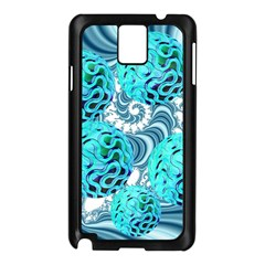 Teal Sea Forest, Abstract Underwater Ocean Samsung Galaxy Note 3 N9005 Case (black)