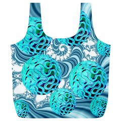 Teal Sea Forest, Abstract Underwater Ocean Reusable Bag (xl)