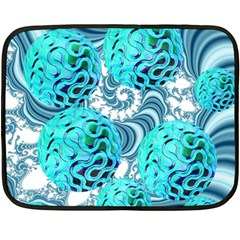 Teal Sea Forest, Abstract Underwater Ocean Mini Fleece Blanket (two Sided)