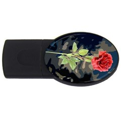 Long Stem Rose 1GB USB Flash Drive (Oval)