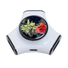Long Stem Rose 3 Port Usb Hub