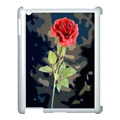 Long Stem Rose Apple iPad 3/4 Case (White)