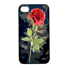 Long Stem Rose Apple iPhone 4/4S Hardshell Case with Stand