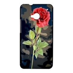 Long Stem Rose HTC One Hardshell Case