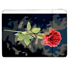 Long Stem Rose Samsung Galaxy Tab 7  P1000 Flip Case