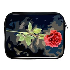 Long Stem Rose Apple Ipad Zippered Sleeve