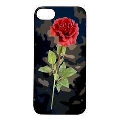 Long Stem Rose Apple iPhone 5S Hardshell Case