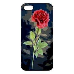 Long Stem Rose Iphone 5s Premium Hardshell Case