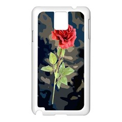 Long Stem Rose Samsung Galaxy Note 3 N9005 Case (White)