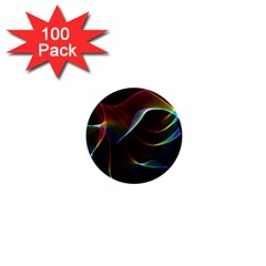 Imagine, Through The Abstract Rainbow Veil 1  Mini Button Magnet (100 pack)