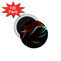 Imagine, Through The Abstract Rainbow Veil 1.75  Button Magnet (100 pack)