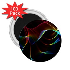 Imagine, Through The Abstract Rainbow Veil 2.25  Button Magnet (100 pack)