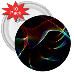 Imagine, Through The Abstract Rainbow Veil 3  Button (10 pack)