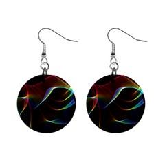 Imagine, Through The Abstract Rainbow Veil Mini Button Earrings