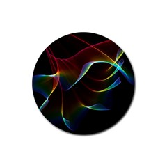 Imagine, Through The Abstract Rainbow Veil Drink Coaster (Round)