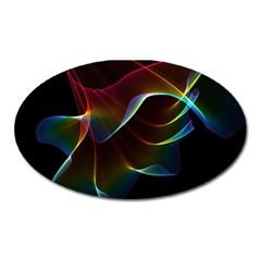 Imagine, Through The Abstract Rainbow Veil Magnet (oval)
