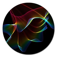 Imagine, Through The Abstract Rainbow Veil Magnet 5  (round)