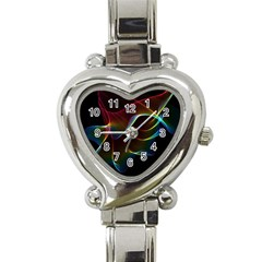 Imagine, Through The Abstract Rainbow Veil Heart Italian Charm Watch