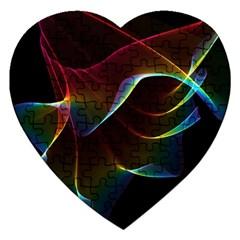 Imagine, Through The Abstract Rainbow Veil Jigsaw Puzzle (heart)