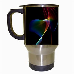 Imagine, Through The Abstract Rainbow Veil Travel Mug (White)