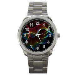 Imagine, Through The Abstract Rainbow Veil Sport Metal Watch