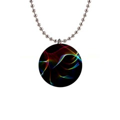 Imagine, Through The Abstract Rainbow Veil Button Necklace