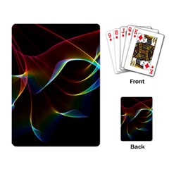 Imagine, Through The Abstract Rainbow Veil Playing Cards Single Design