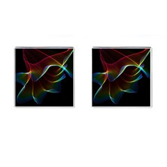 Imagine, Through The Abstract Rainbow Veil Cufflinks (square)