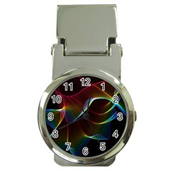 Imagine, Through The Abstract Rainbow Veil Money Clip with Watch