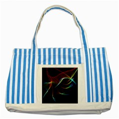 Imagine, Through The Abstract Rainbow Veil Blue Striped Tote Bag