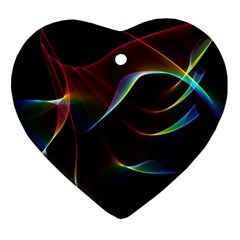 Imagine, Through The Abstract Rainbow Veil Heart Ornament (Two Sides)