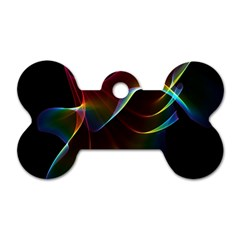 Imagine, Through The Abstract Rainbow Veil Dog Tag Bone (Two Sided)