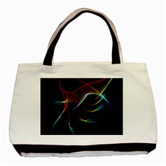 Imagine, Through The Abstract Rainbow Veil Twin-sided Black Tote Bag