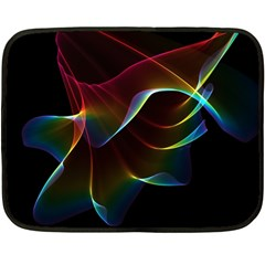 Imagine, Through The Abstract Rainbow Veil Mini Fleece Blanket (two Sided)
