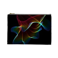 Imagine, Through The Abstract Rainbow Veil Cosmetic Bag (large)