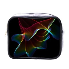 Imagine, Through The Abstract Rainbow Veil Mini Travel Toiletry Bag (one Side)